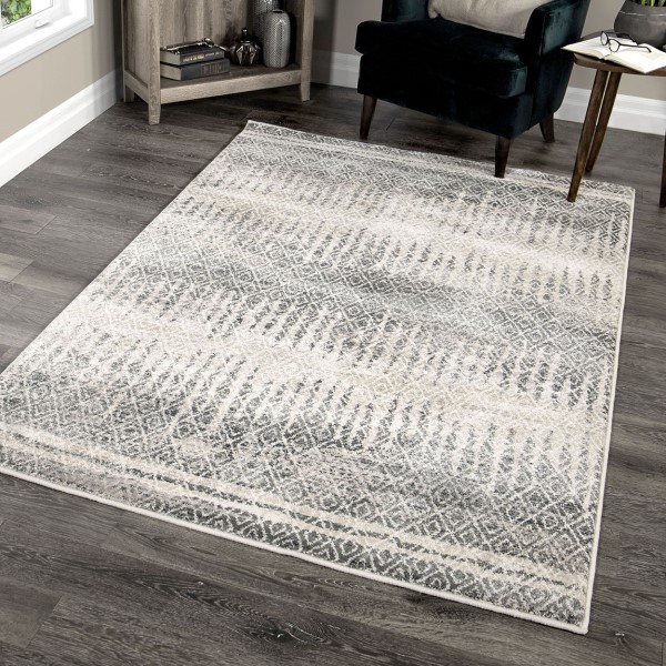 Grey, Beige, Taupe (9019) Contemporary / Modern Area Rug