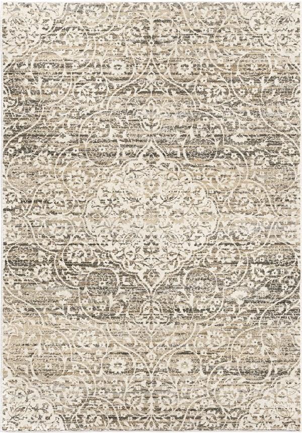 Beige, Ivory, Grey (9002) Transitional Area Rug
