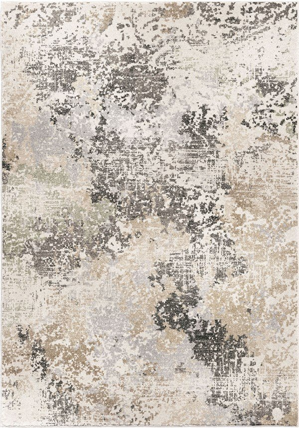 Beige, Ivory, Grey (9003) Abstract Area Rug