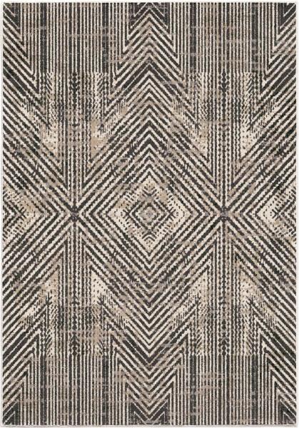 Beige, Brown (9021) Geometric Area Rug