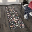 Product Image of Navy, Green, Red Floral / Botanical Area Rug