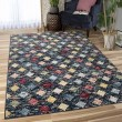 Product Image of Blue, Red, Green Geometric Area Rug