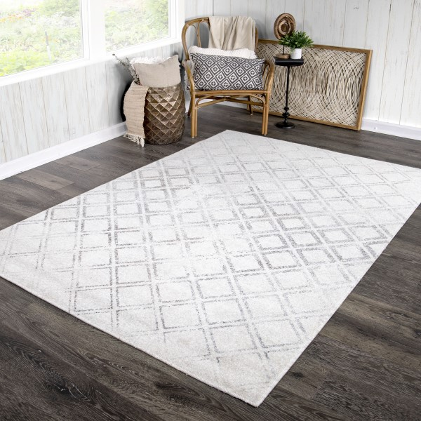Off White Transitional Area Rug