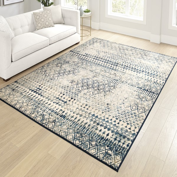 Beige, Brown, Charcoal Traditional / Oriental Area Rug
