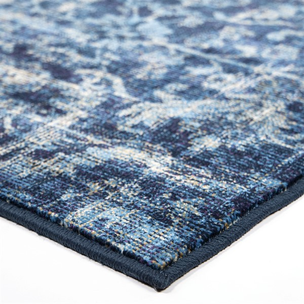 Blue, Navy Vintage / Overdyed Area Rug