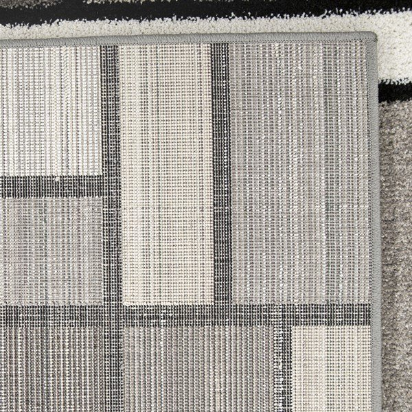 Grey, Beige, Ivory Contemporary / Modern Area Rug