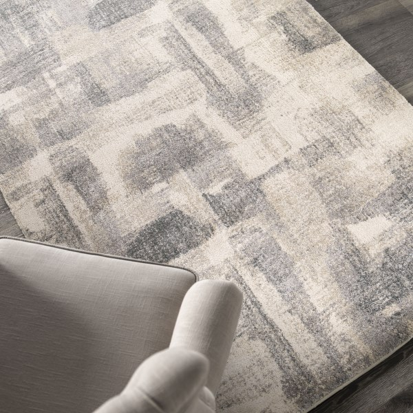 Gray, Beige, Off-White (9213) Abstract Area Rug