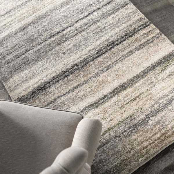 Off-White, Beige, Gray (9205) Contemporary / Modern Area Rug