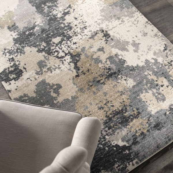 Gray, Beige, Off-White (9212) Contemporary / Modern Area Rug
