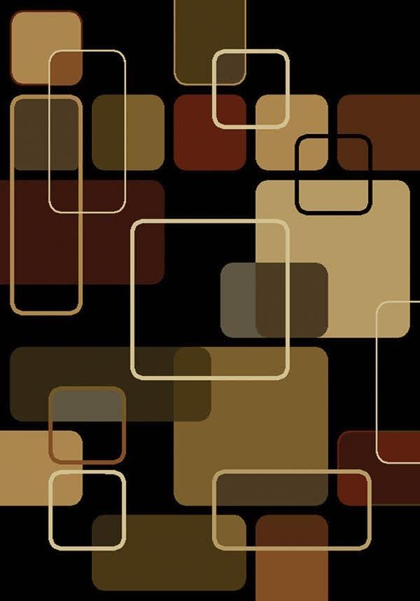 Black (550-32270) Contemporary / Modern Area Rug