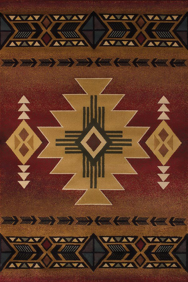 Crimson (530-29236) Southwestern / Lodge Area Rug