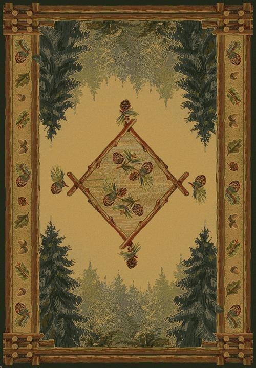 Gold (530-51043)  Southwestern / Lodge Area Rug