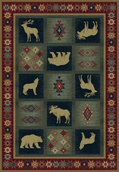 Natural (530-41917) Southwestern / Lodge Area Rug