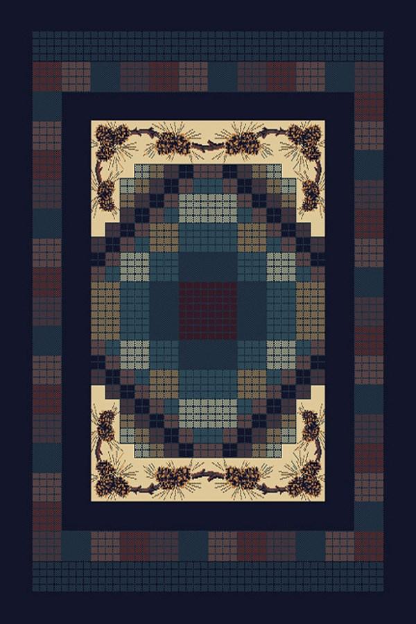 Navy (940-13064) Southwestern / Lodge Area Rug