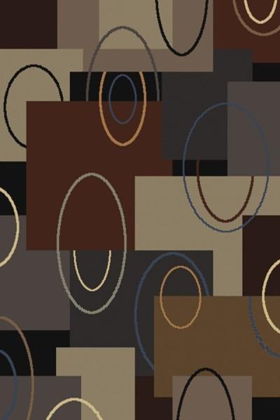 Brown (940-39950) Contemporary / Modern Area Rug