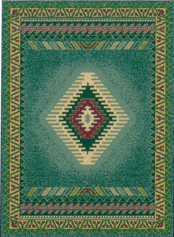 Light Green (940-27040)  Southwestern / Lodge Area Rug