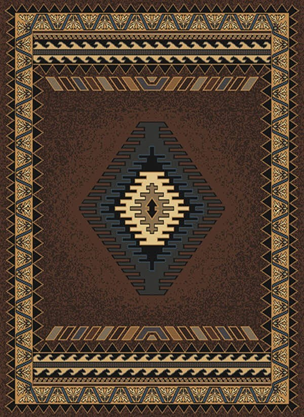 Brown (940-27050) Southwestern / Lodge Area Rug