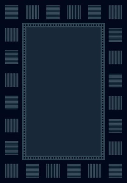 Navy (940-36764)  Bordered Area Rug