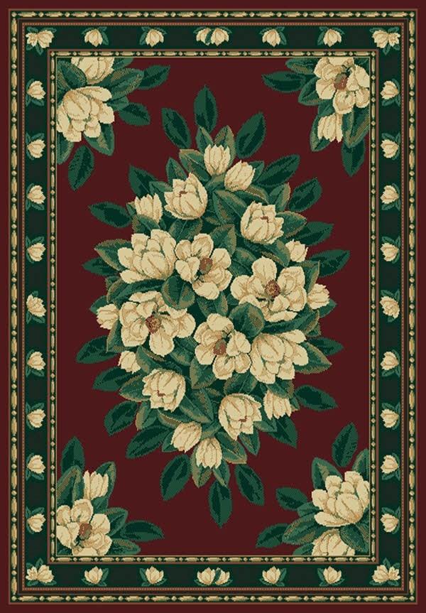 Burgundy (940-37034)  Floral / Botanical Area Rug