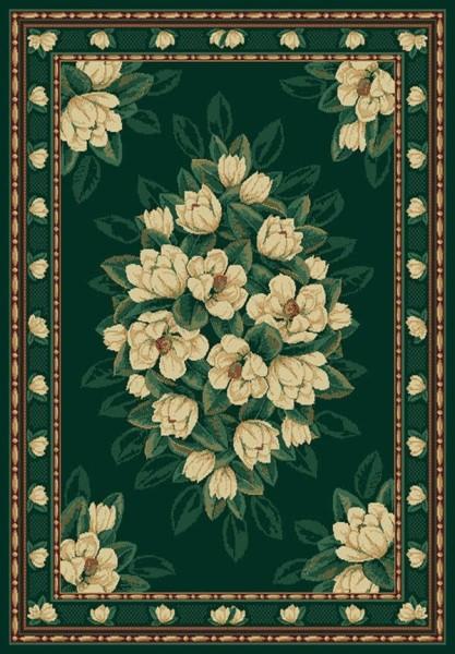 Hunter Green (940-37042)  Floral / Botanical Area Rug