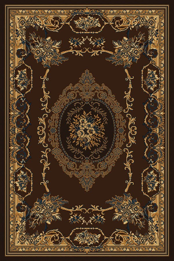 Brown (940-38150) Traditional / Oriental Area Rug