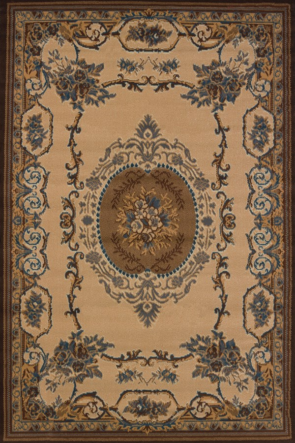 Light Blue (940-38160) Traditional / Oriental Area Rug