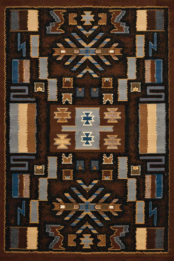 Brown (940-38550) Southwestern / Lodge Area Rug