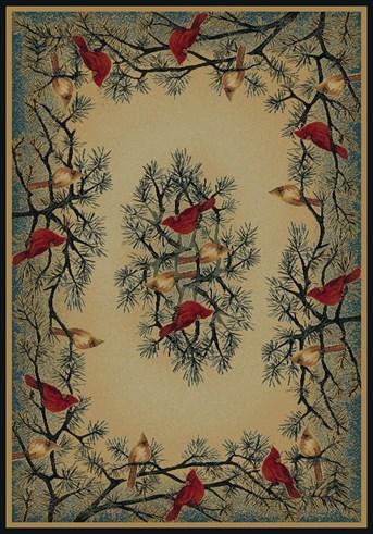 Hautman Brothers - Genesis Cardinal In Pine arearugs