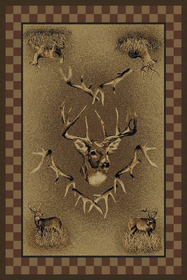 Brown (533-11120) Southwestern / Lodge Area Rug