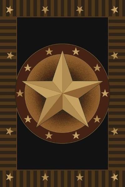 Black (510-26776) Southwestern / Lodge Area Rug