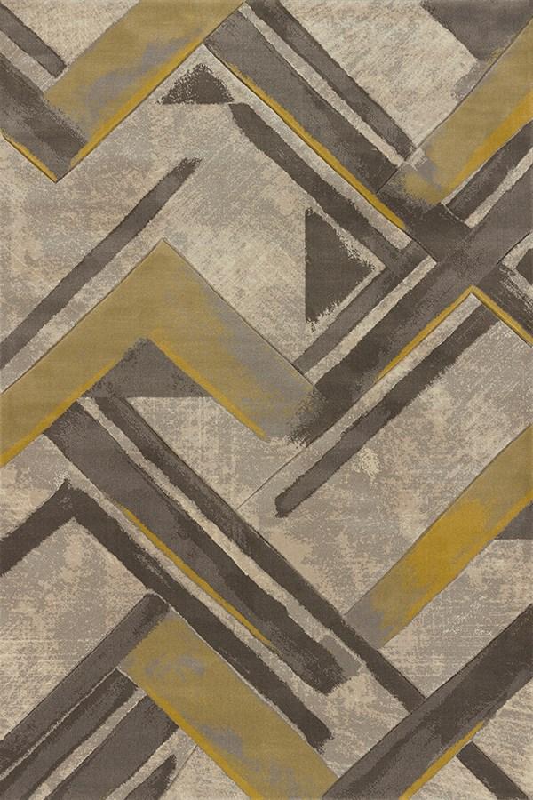 Grey, Beige (702-28472) Contemporary / Modern Area Rug