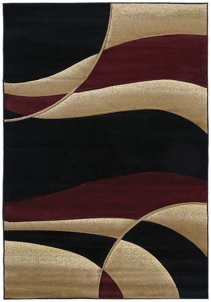 Burgundy (510-22834) Contemporary / Modern Area Rug