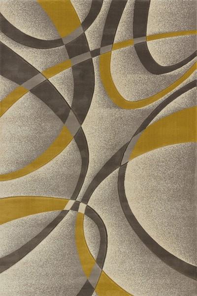 Silver, Beige (702-21371) Contemporary / Modern Area Rug