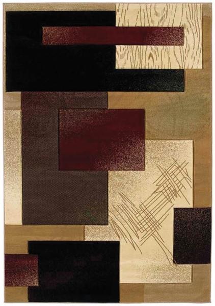 Burgundy (510-20834) Contemporary / Modern Area Rug