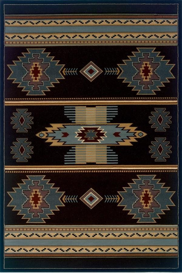 Smoke Blue (511-25266) Southwestern / Lodge Area Rug