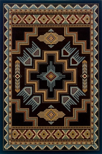 Smoke Blue (511-25366) Southwestern Area Rug