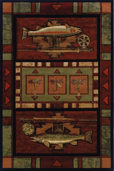 Terracotta (512-25429) Southwestern / Lodge Area Rug