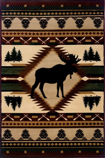 Designer Contours - John Q Moose Wilderness   arearugs