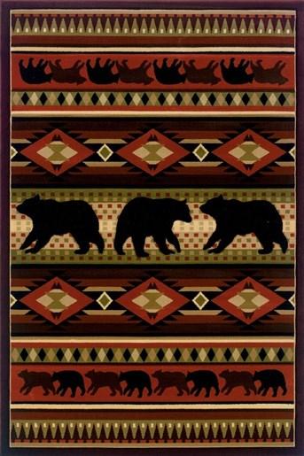 Designer Contours - John Q Native Bear arearugs
