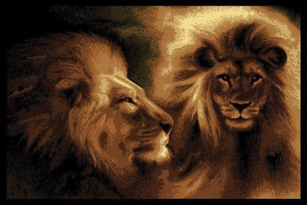 United Weavers Legends Lion Profile Rugs Rugs Direct