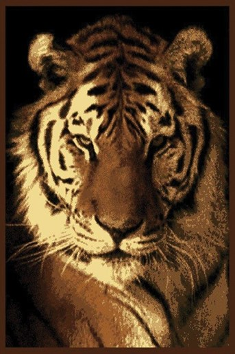 Legends Tiger Portrait arearugs