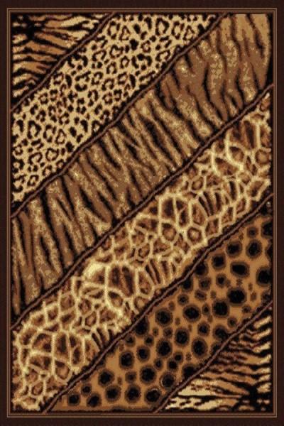Brown (910-03150) Contemporary / Modern Area Rug