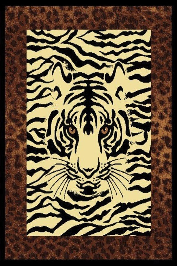 Brown (910-04550) Animals / Animal Skins Area Rug