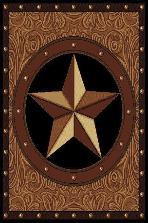 Brown (910-04950) Southwestern / Lodge Area Rug