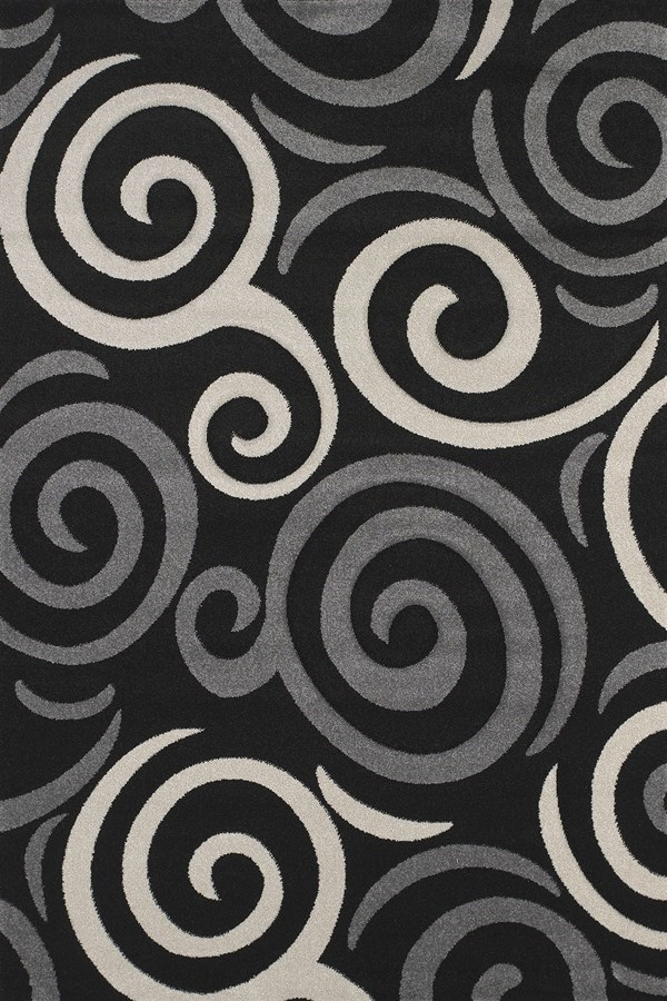 Black (401-00770) Transitional Area Rug