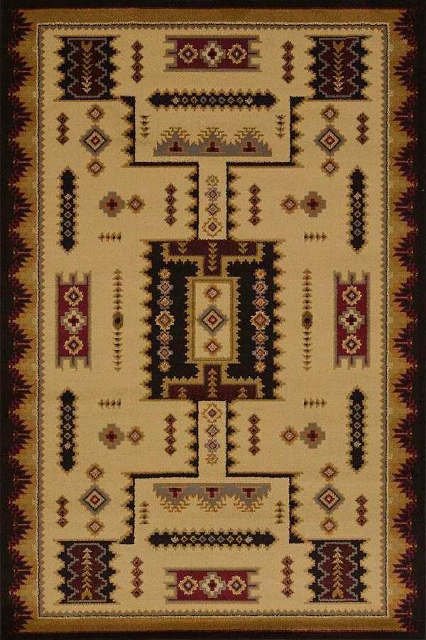 Ivory (750-01815) Southwestern / Lodge Area Rug