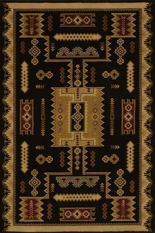 Black (750-01870) Southwestern / Lodge Area Rug