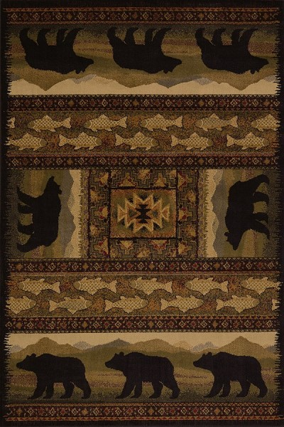 Black (750-01943) Country Area Rug