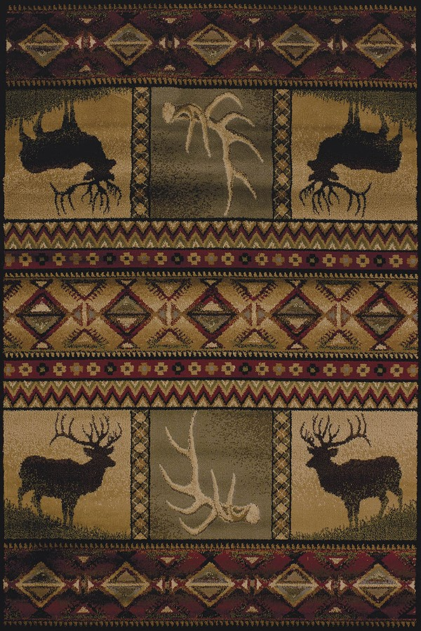 Burgundy (750-03843) Southwestern / Lodge Area Rug
