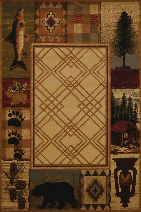 Natural (750-05117) Southwestern / Lodge Area Rug